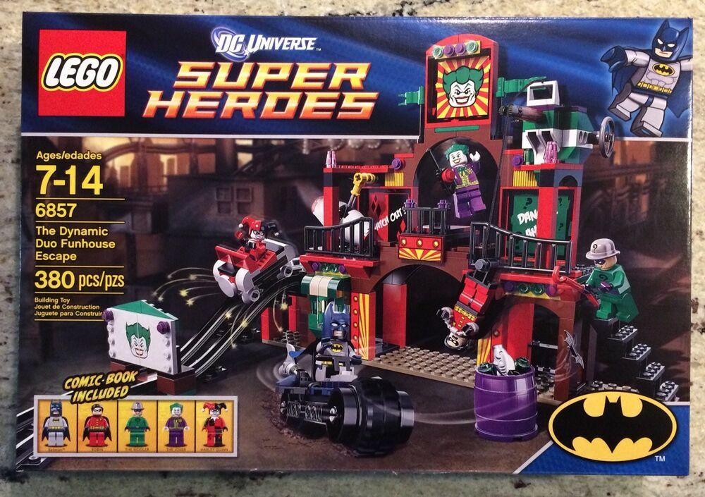 LEGO SUPER HEROES 6857 Dynamic Duo Funhouse Escape Batman Robin Joker NEW SEALED