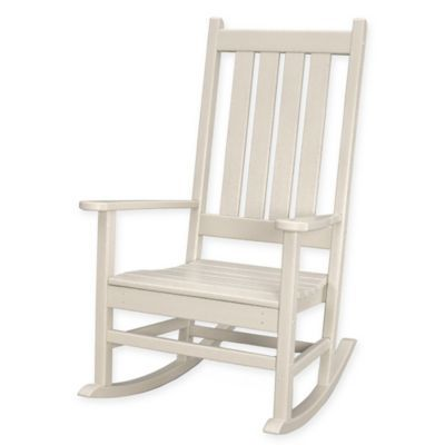 Phenomenal Polywood Vineyard Porch Rocker In Sand Products Rocking Caraccident5 Cool Chair Designs And Ideas Caraccident5Info