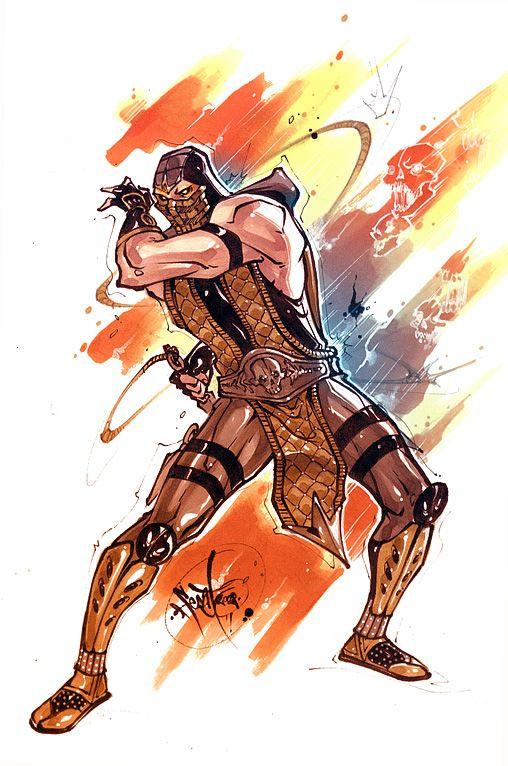 Mkvsdc Scorpion By Fezat1 Deviantart Com Mortal Kombat Art
