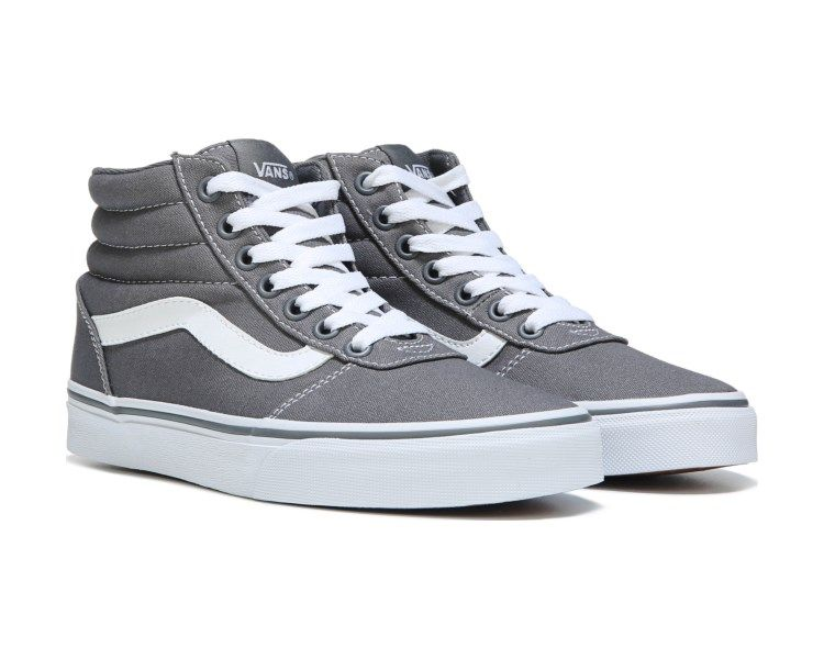 976c132de6 Step into a signature side stripe look with the Ward High Top Sneaker from  Vans.Canvas upper in a high top skate sneaker style with a round toeLace up  ...