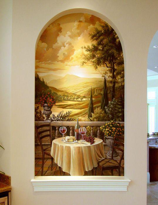 Tuscan Mural Painting - Artist Tim Parker - Naples FL | Murals ...