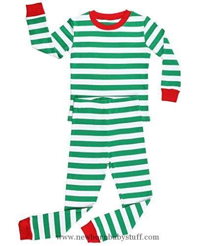 a241a8925a65 Baby Boy Clothes Elowel Striped 2 Piece Pajama Set Green   White 6 ...