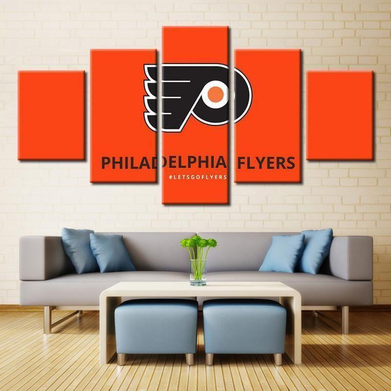 Philadelphia Flyers Logo Ice Hockey Canvas Wall Art Wall Canvas Canvas Wall Art Philadelphia Flyers Logo