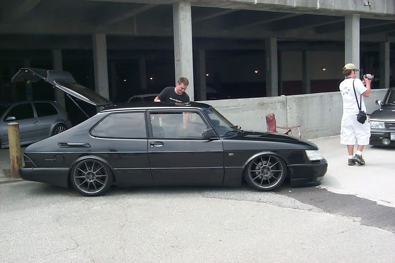 lowered+saab | saab 9-5 with coilovers pic request