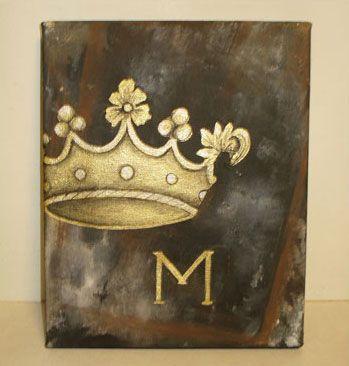 Sam Designs Accessories Crown Canvas Painting Crown Painting Diy Canvas Art Canvas Painting