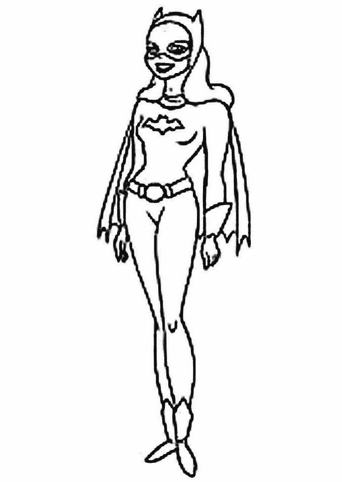Bat Woman Is A Friend Of Batman Beautiful Coloring Pages ...