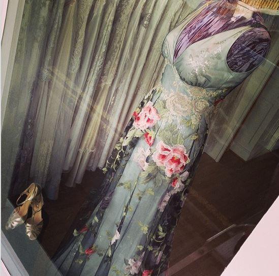 Claire Pettibone 'Raven' wedding dress at Leonie Claire Bridal Boutique (Brighton, UK) | Claire Pettibone bridal trunk show Feb 28-Mar 2 | CALL 01273 711458 http://www.leonieclaire.com/bridal-designers/wedding-dresses/claire-pettibone