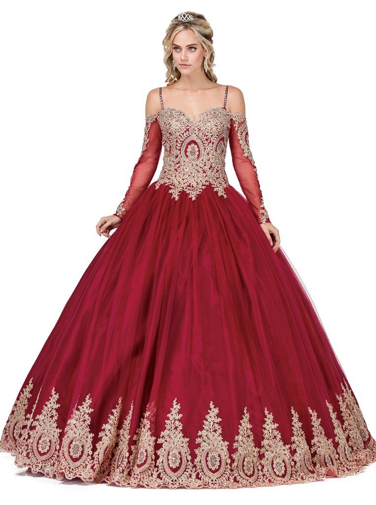 3ff6b0343392 Dancing Queen 1282 ball gown. This stunning gown showcases an eye-catching  beaded appliqued bodice and classic sweetheart neckline supported by  spaghetti ...