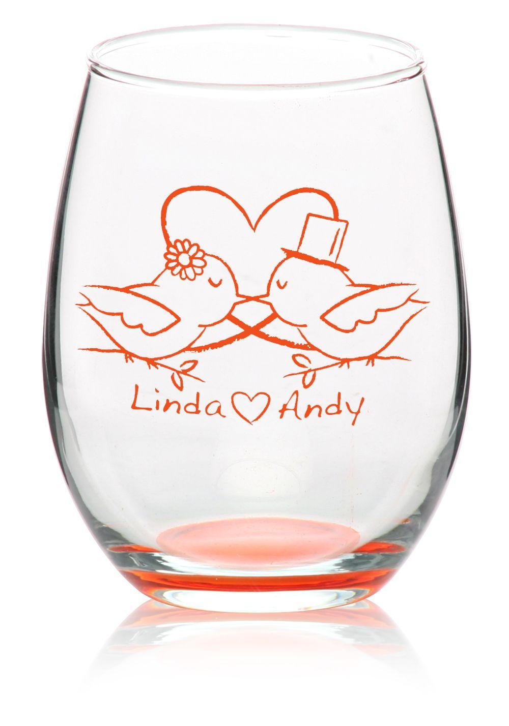 Custom Stemless Wine Glasses - Personalized Wine Glasses   Wine ...