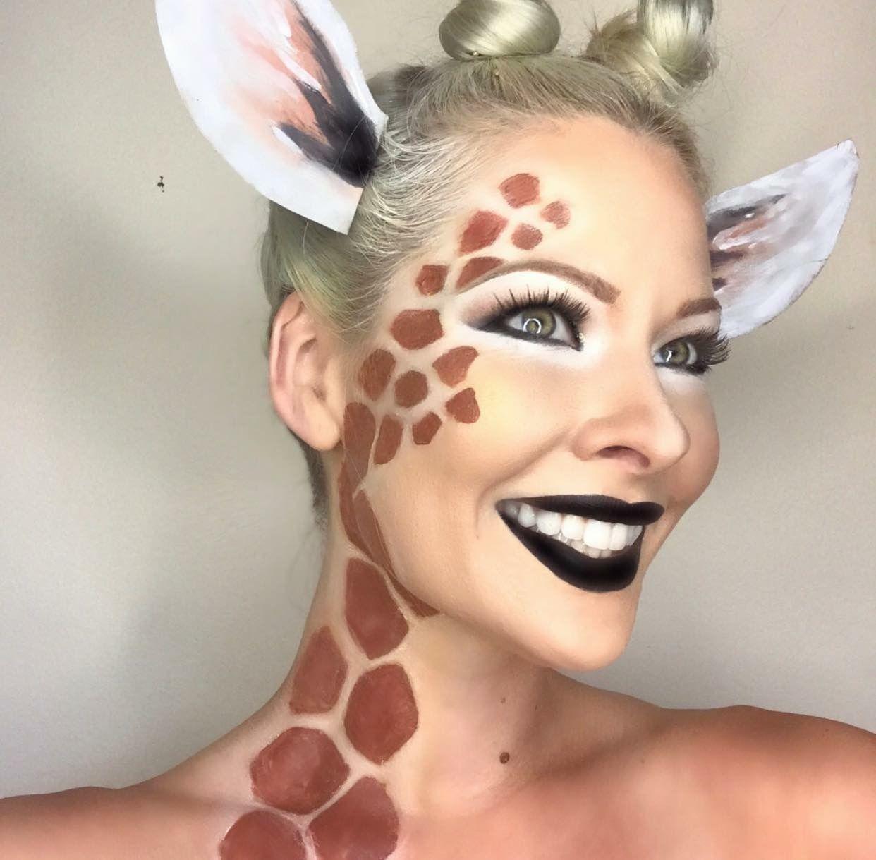 CUTE GIRAFFE MAKEUP! Animal Makeup. Halloween Makeup. Halloween