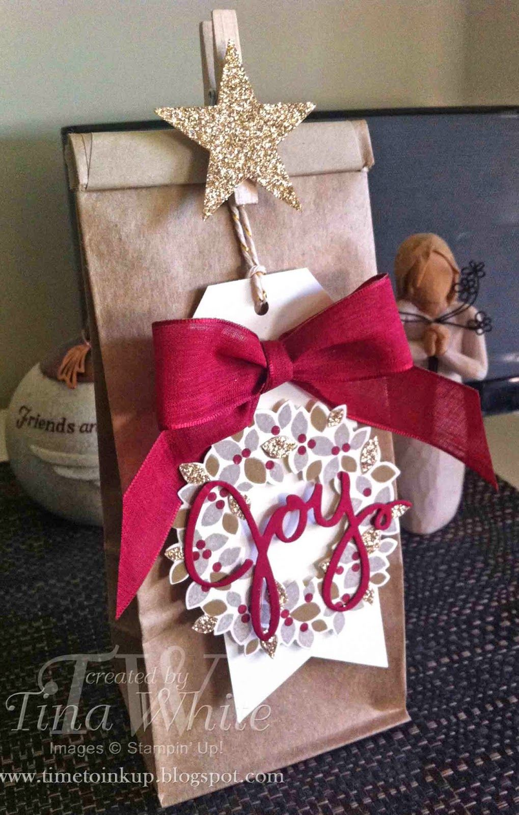 Christmas Gift Bags Australia.Stampin Up Australia Tina White Time To Ink Up
