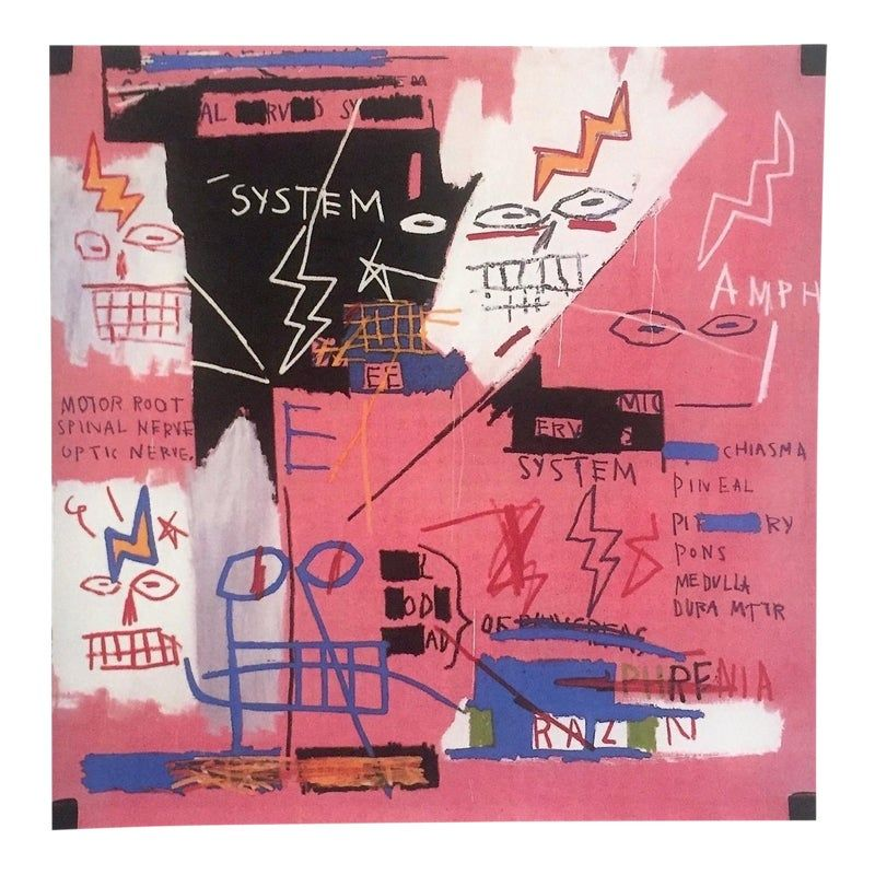 Jean Michel Basquiat Estate Fine Art Lithograph Po