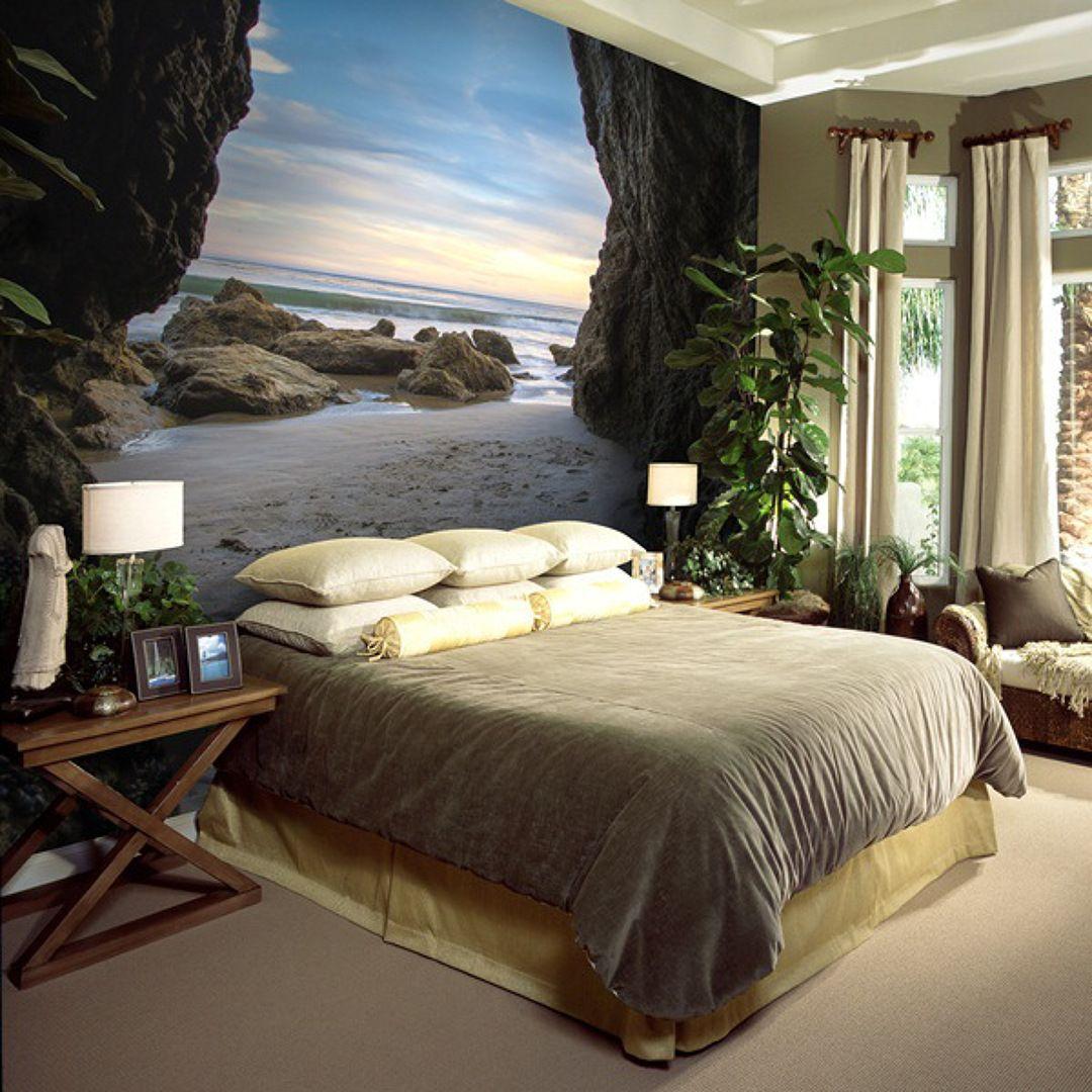 foto de playa en dormitorio interior decorating ideas foto de playa en dormitorio wall muralbarcelonabeach wallpapercounting sheepbedroom