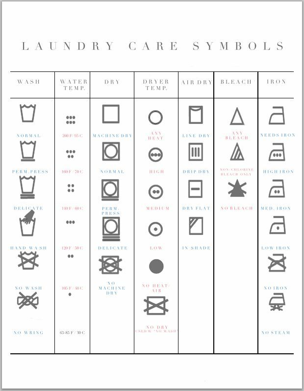 Love The Look Of This Laundry Symbols Printable Definitely Going