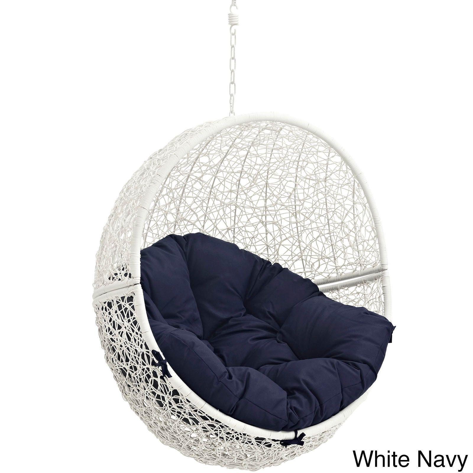 Modway Cloak Outdoor Patio Swing Chair (gray Beige), Patio Furniture