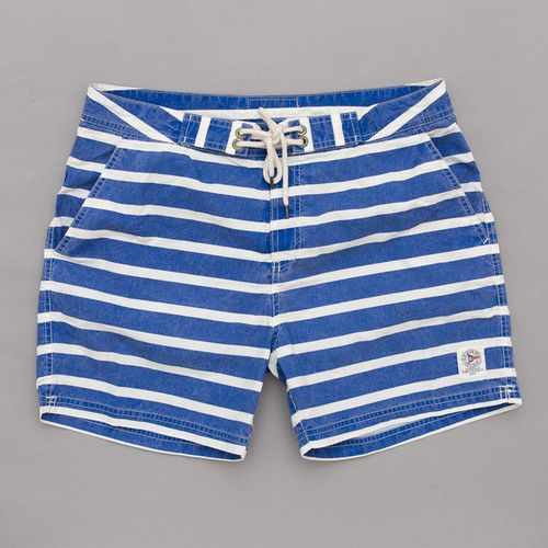 ada5e7fc85710 Polo Ralph Lauren Stripe Swimshort (Royal / White) | Oi Polloi ...
