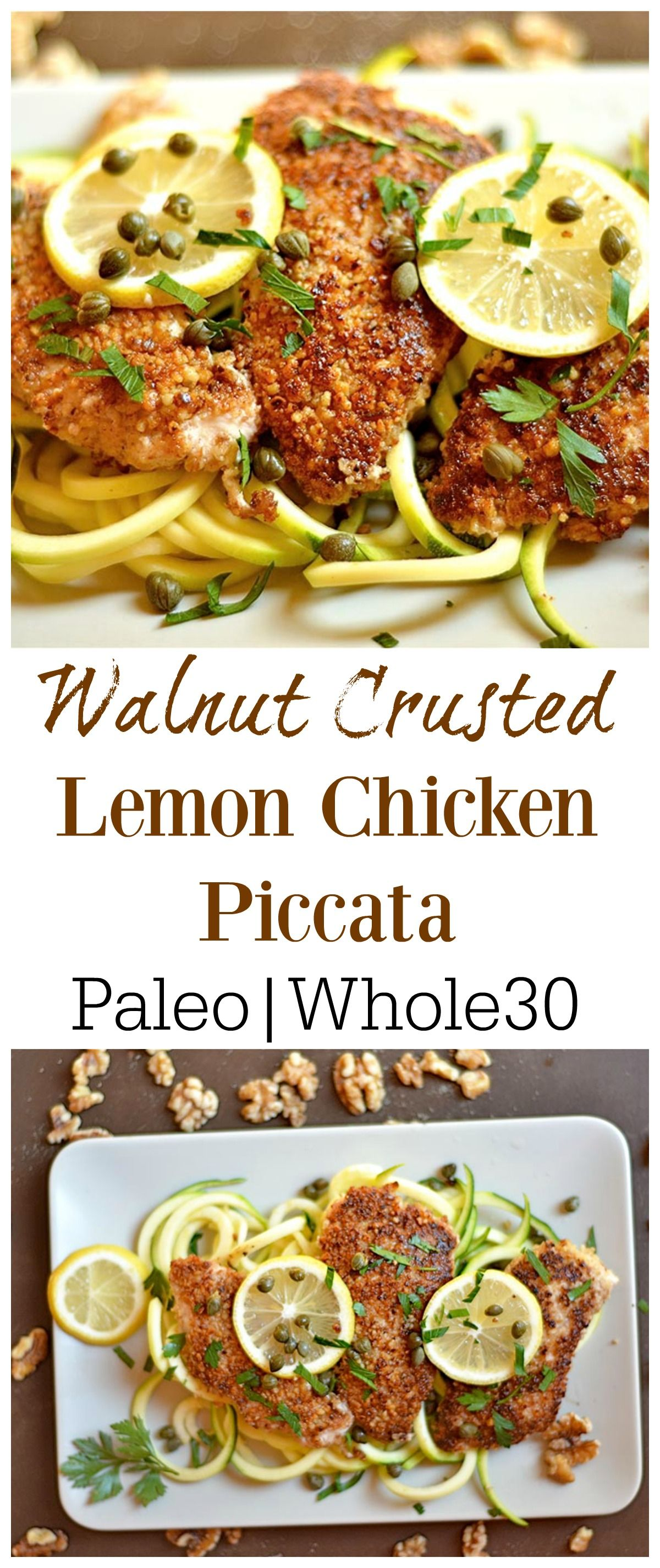 Photo of Walnut Crusted Lemon Chicken Piccata – Wholesomelicious