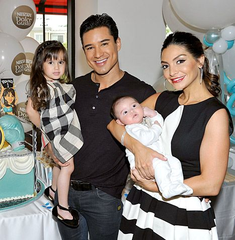 Mario Lopez Wife Introduce Son Dominic At Big Bash First Photo