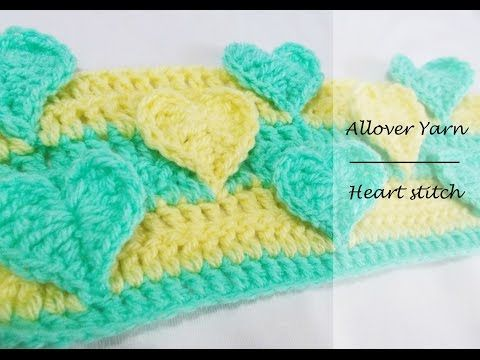 How to crochet the Heart Stitch - YouTube | Blanket/Afghan Patterns ...