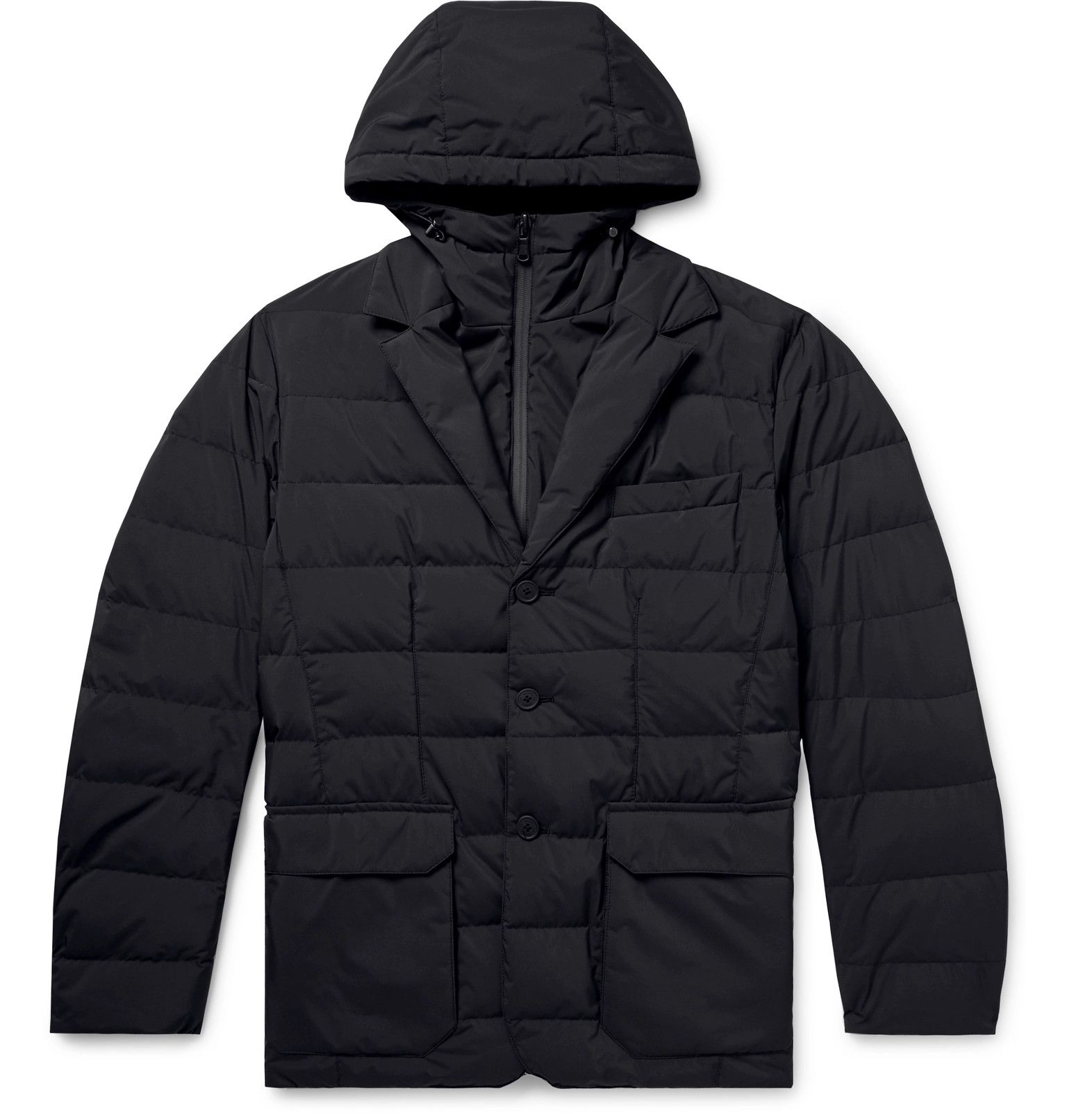 Moncler Quilted Shell Hooded Down Jacket Down jacket