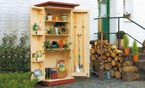 Fresh DIY garden cupboard