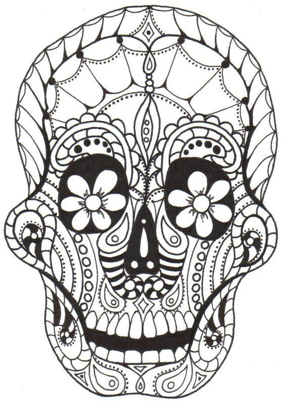 DIA De Los Muertos Printable Coloring Pages | Dia de los Muertos ...