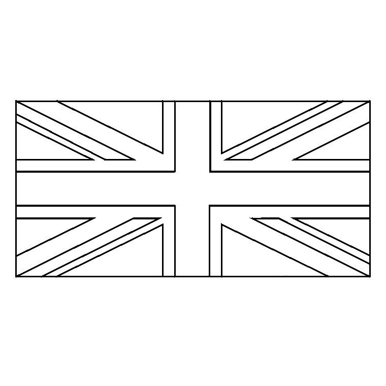Coloriage union jack angleterre pinterest angleterre - Image d angleterre a imprimer ...