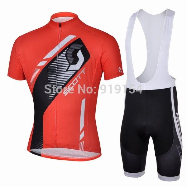 e00a7df3b 2013 New Arrival Scott Red Cycling Short Sleeve Jersey   Shorts