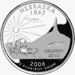 Nebraska 50 State Quarter State Quarters Nebraska State Nebraska