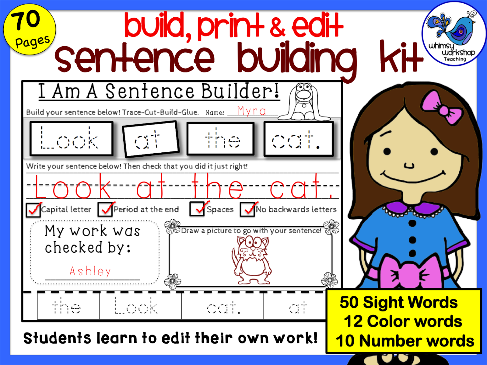 No More Sloppy Sentences Great For Daily Work Or Literacy Centers Three Kits Available Which