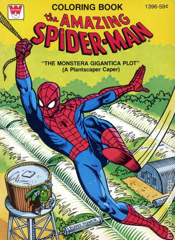 Amazing Spider Man Coloring Book Sc Marvel Books Coloring Books Vintage Coloring Books