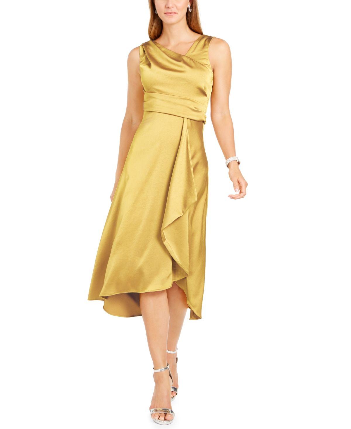 Scandal Asymmetrical Wrap Gown