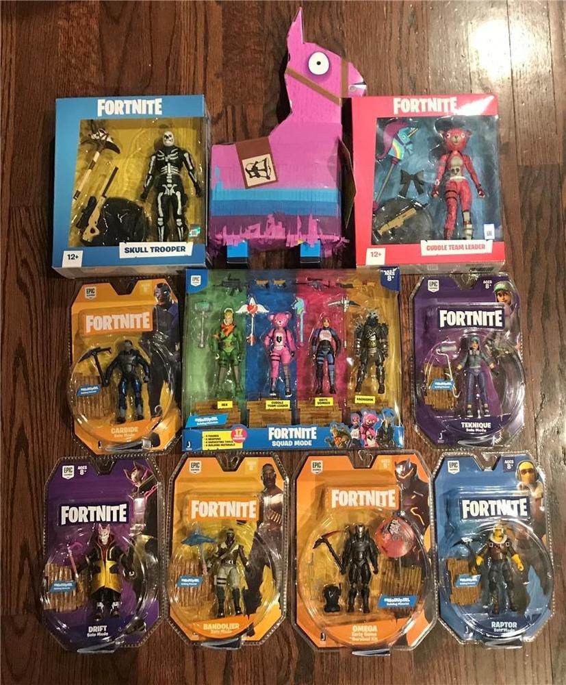 Fortnite Action Figure Lot Loot Llama Squad Mode Cuddle Leader