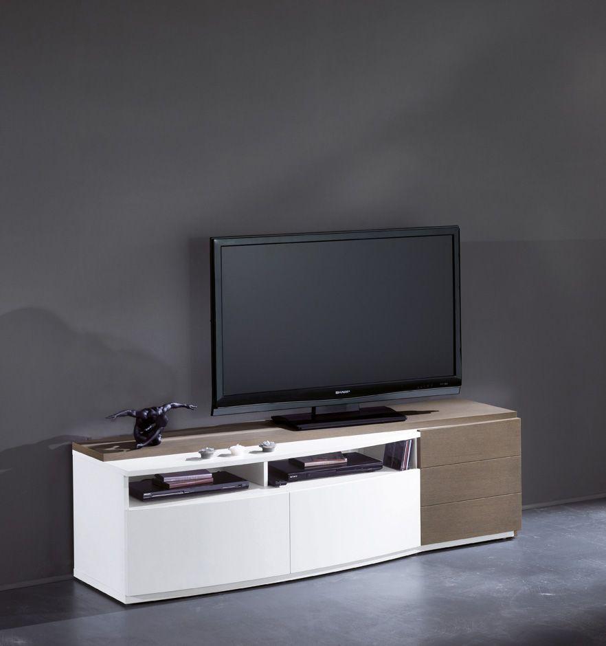 S Jour M Tropolis Meuble Tv 3 Portes 1 Niche Largeur 180 Cm  # Meuble Tv Carlo