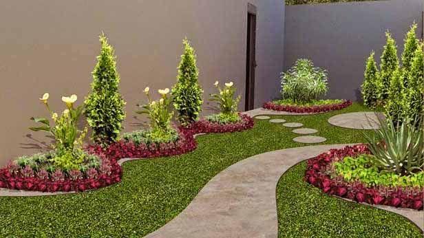 Jardines peque os para frentes de casas jardines for Ideas para jardines de campo