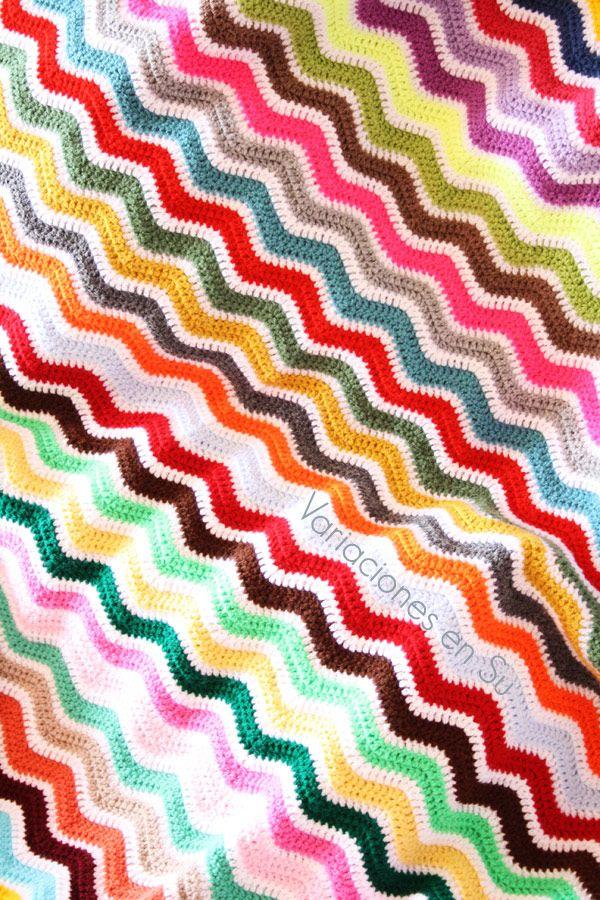 Ripple Blanket (detail).