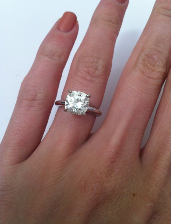 Cushion Cut Solitaire Because He Probably Needs A Little