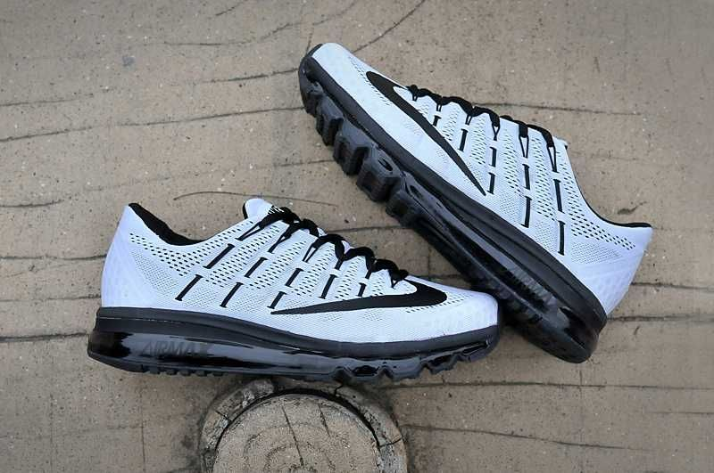 new product 5504a 07571 Nike Air Max 2016 Men Mesh Black White Shoes