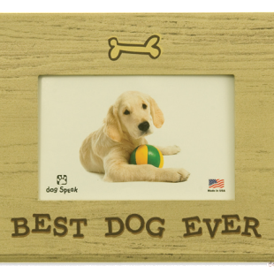 "Dog Speak Pet Lover Picture Frame /""Wag Wag Wag/"" Made in the USA"