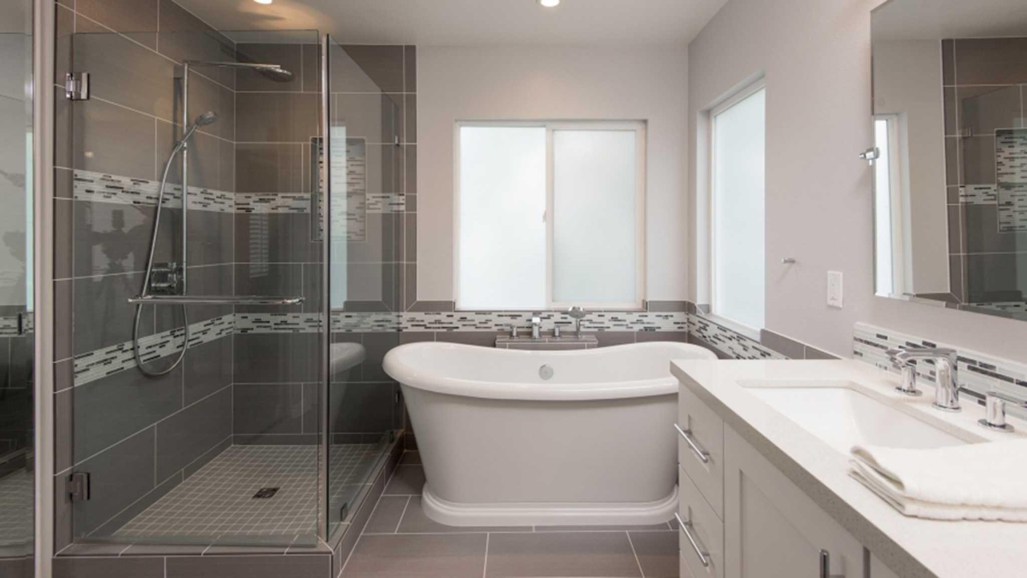 Living Smart How Much Does Bathroom Tile Installation Cost Tile Bathroom Small Master Bathroom Bathroom Cost