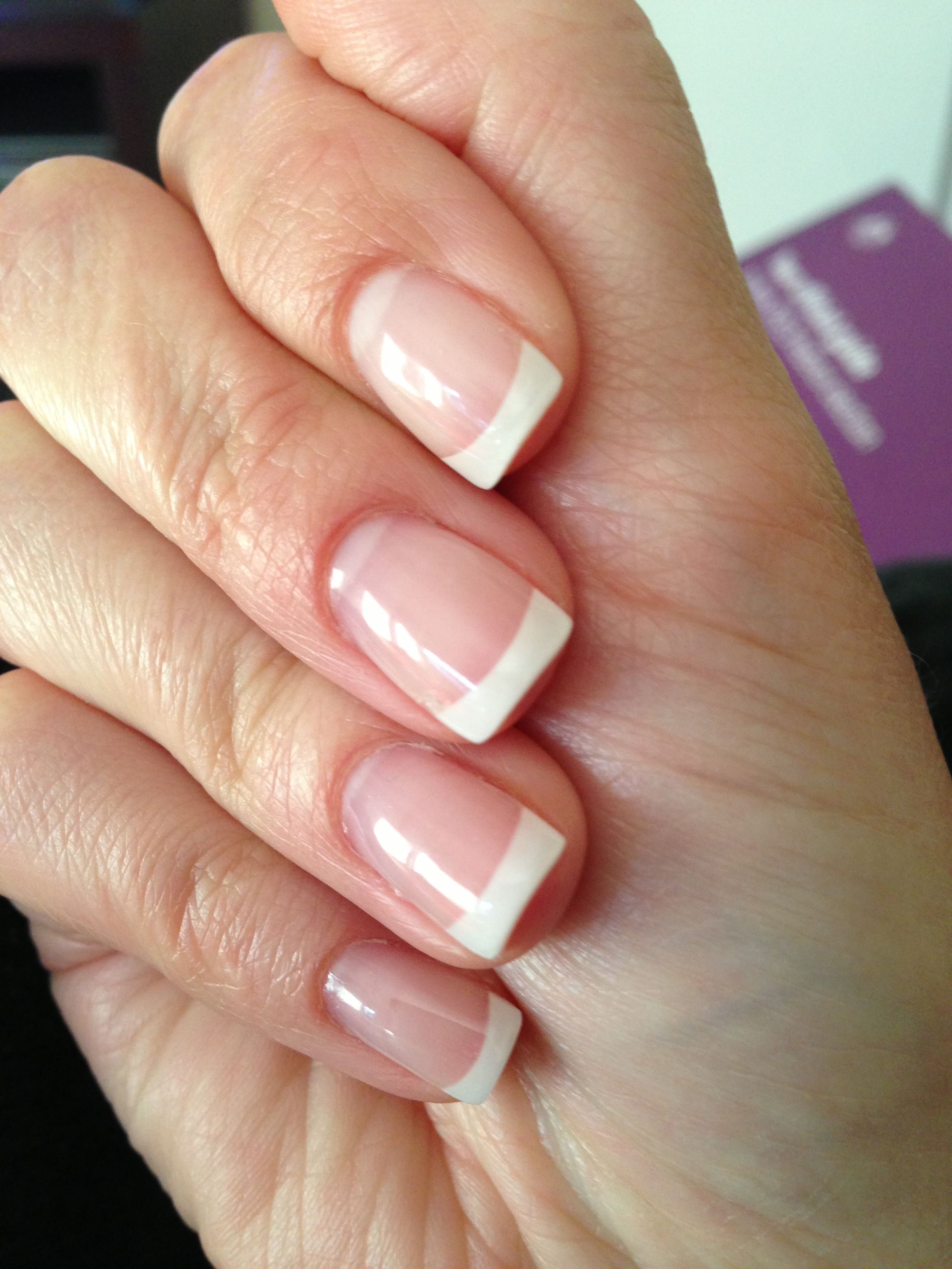 Pin By Stephanie Edson On Gee I Love My Job French Nails French Tip Acrylic Nails Nails