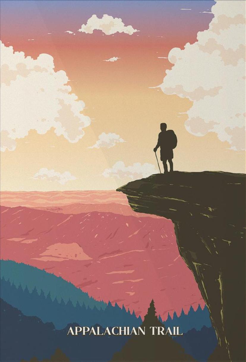 Appalachian Trail Sendero De Los Apalaches Painting Dibujos