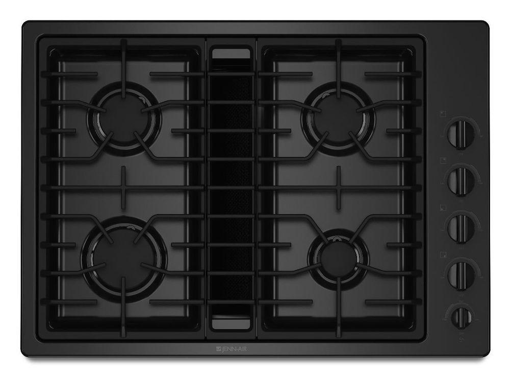 Jennair 30 gas downdraft cooktop black jgd3430wb