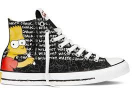 The Simpsons Brat write I will not waste chalk | Converse