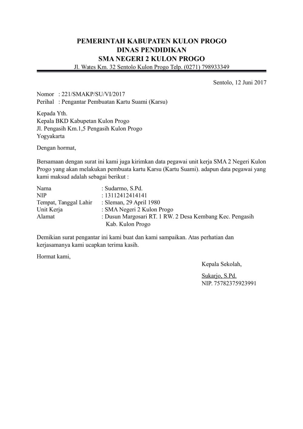 Download Contoh Surat Pengantar Dari Kepala Sekolah Untuk Berbagai Urusan Kepala Sekolah Sekolah Surat