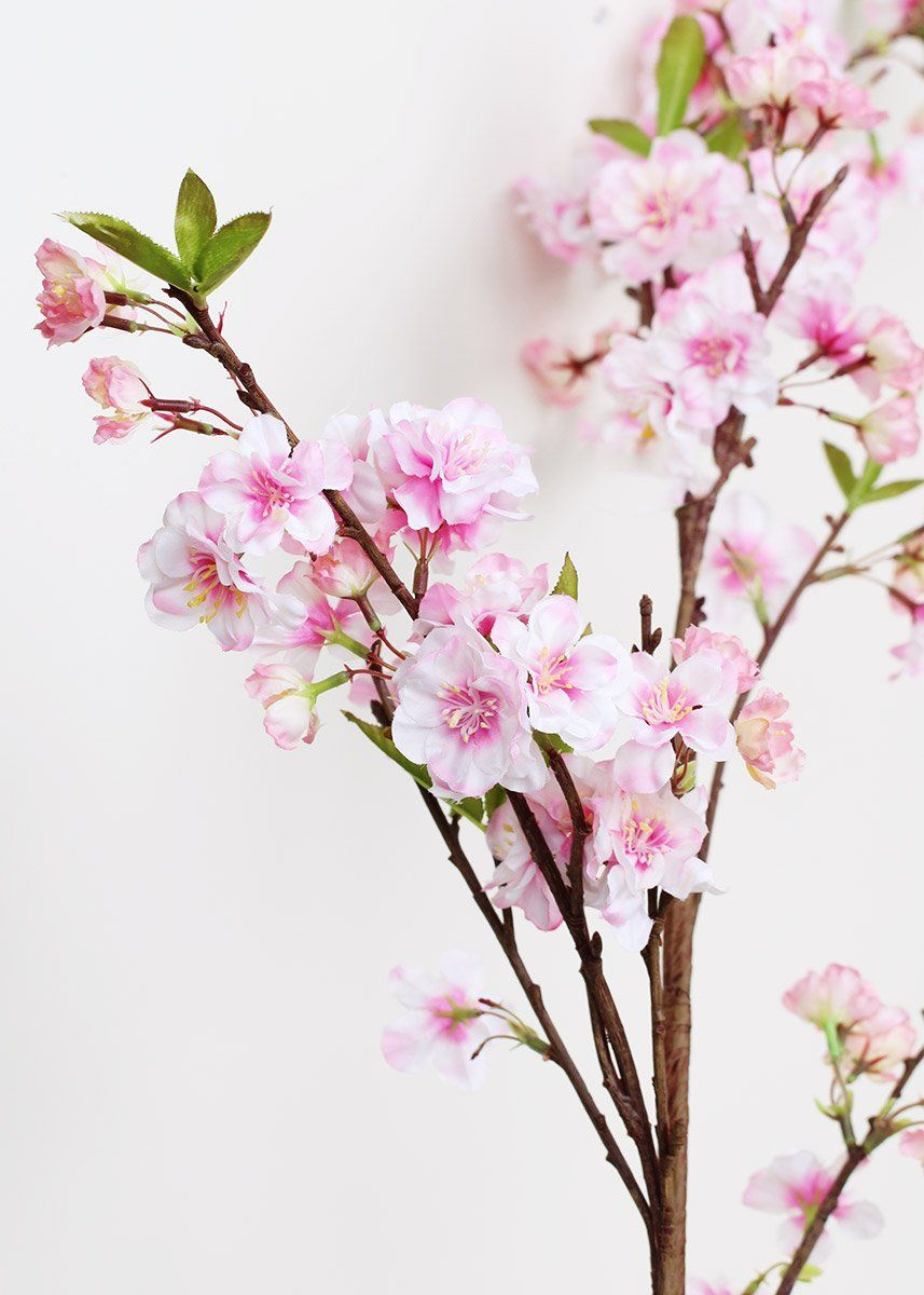 "Rami Di Pesco Finti pink soft touch cherry blossom branch - 54"" tall nel 2020"