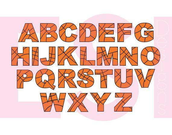 Basketball Alphabet Letters A Z Alphabet Creative Lettering Lettering