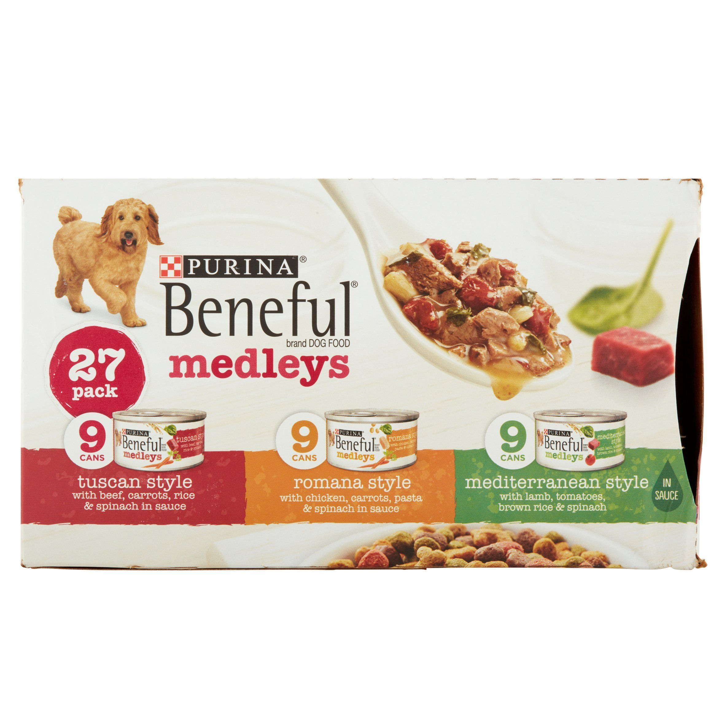 Purina Beneful Medleys Variety Pack Dog Food 273 Oz Cans 4 Pack