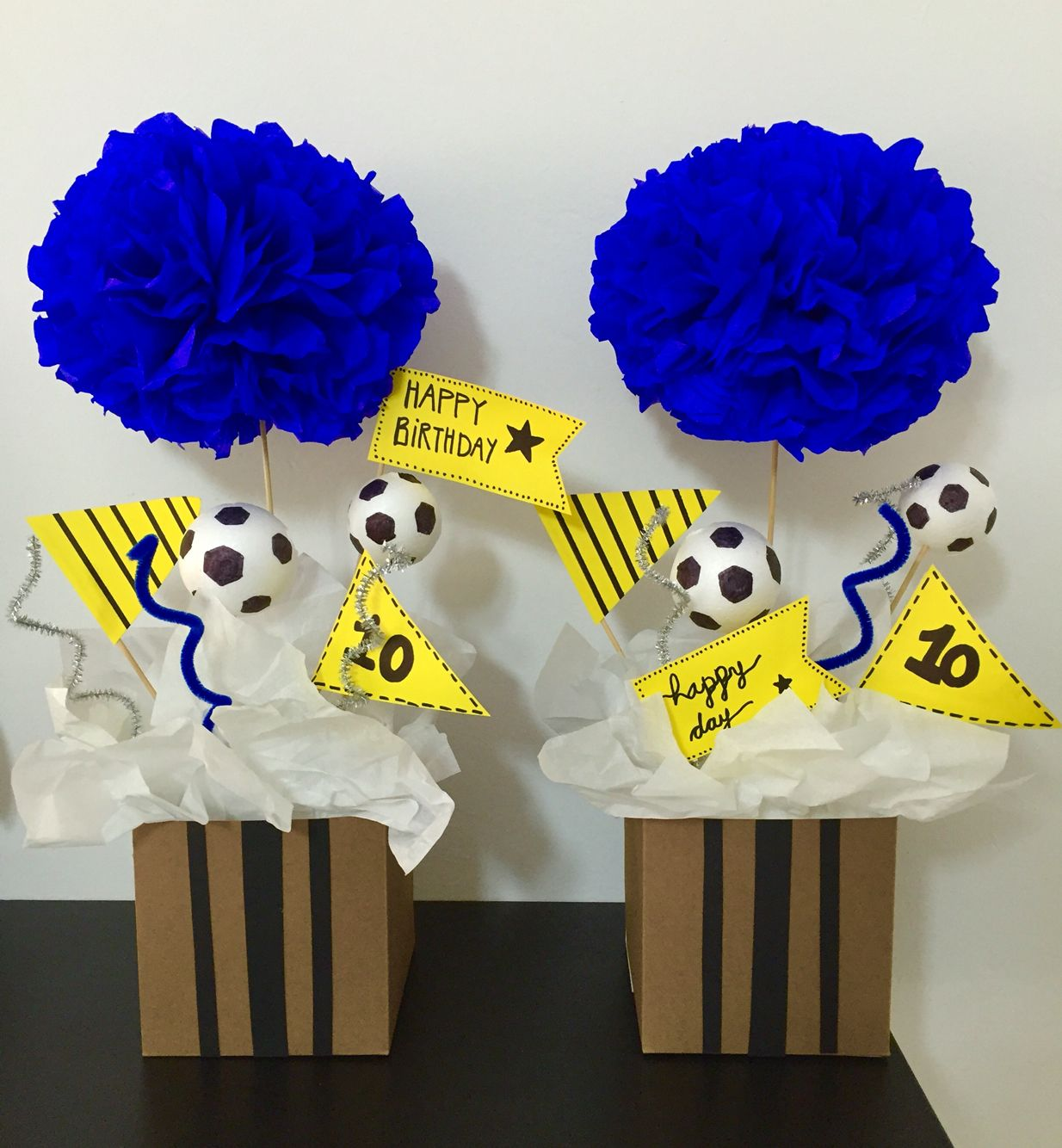 Centros de mesa real madrid party 10th birthday pinterest real madrid madrid and birthdays - Real madrid decorations ...