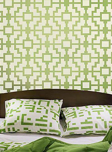 Wall stencils, wallpaper stencil patterns for walls. Stencils for ...